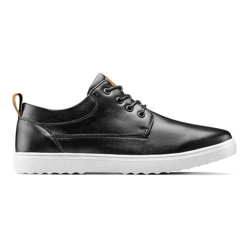 Sneakers in similpelle bata, nero, 841-6154 - 26