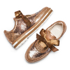 Stringate da donna con paillettes bata, oro, 529-4288 - 26