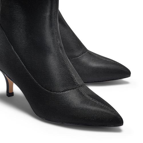 Stivaletti calzino con tacco bata, nero, 799-6267 - 17
