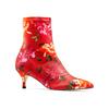 Stivaletti calzino con tacco bata, rosso, 799-5267 - 13