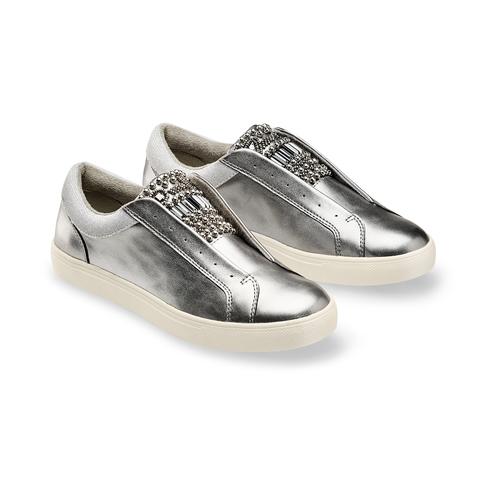 Slip on da donna bata, argento, 541-2163 - 16