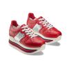 Sneakers con lacci Platform bata, rosso, 644-5198 - 16