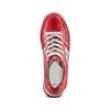 Sneakers con lacci Platform bata, rosso, 644-5198 - 17
