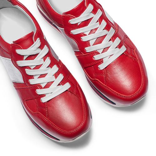 Sneakers con lacci Platform bata, rosso, 644-5198 - 26