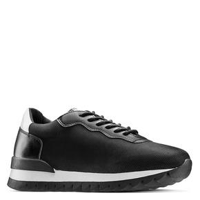 Sneakers in tessuto elasticizzato bata, nero, 549-6212 - 13
