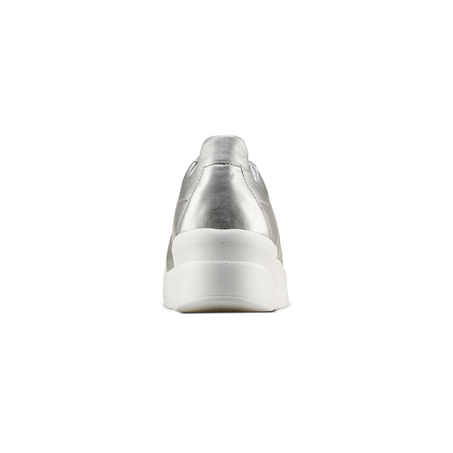 Sneakers silver Platform bata, 624-1158 - 15