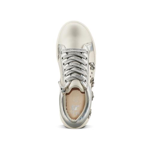 Sneakers da bimba con pietre mini-b, bianco, 321-1304 - 17