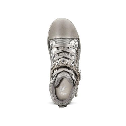 Sneakers alte da bambina mini-b, grigio, 329-2301 - 15