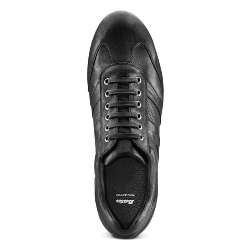 Sneakers da uomo con lacci bata, nero, 844-6141 - 17
