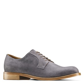 Derby in pelle scamosciata bata-the-shoemaker, grigio, 823-2325 - 13