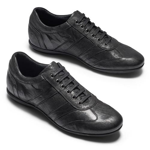Sneakers da uomo con lacci bata, nero, 844-6141 - 26