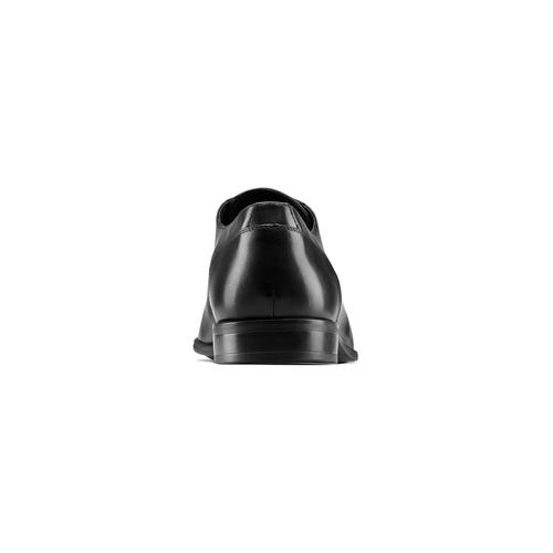 Stringate in vera pelle bata, nero, 824-6357 - 15