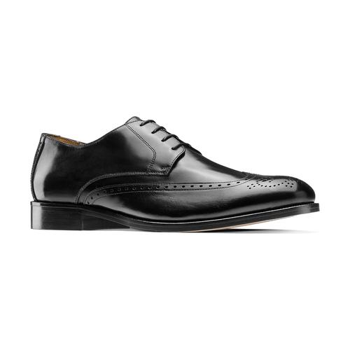Stringate in pelle con dettagli Brogue bata-the-shoemaker, nero, 824-6342 - 13