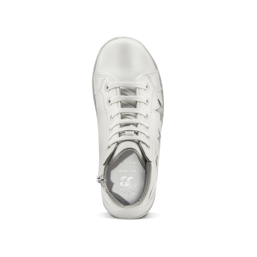 Sneakers alte con stelle mini-b, bianco, 321-1322 - 15