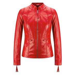 Giacca in vera pelle da donna bata, rosso, 974-5180 - 13