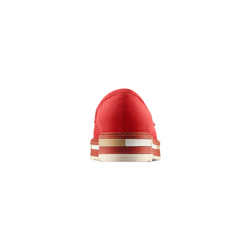 Mocassini in microfibra da donna bata, rosso, 519-5209 - 15