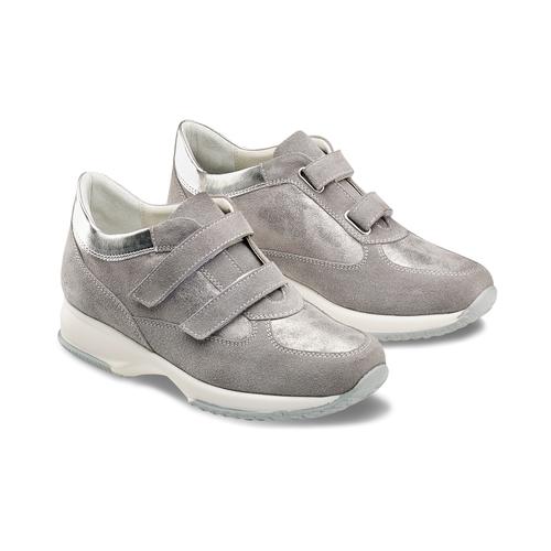 Scarpe casual da donna bata, grigio, 513-2202 - 16