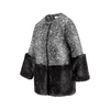 Cappotto con dettaglio in ecopelliccia bata, nero, 979-6241 - 16