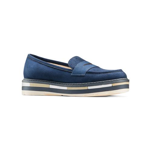 Mocassini Platform da donna bata, blu, 519-9209 - 13