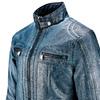 Giubbotto da uomo in finta pelle bata, blu, 971-9194 - 15