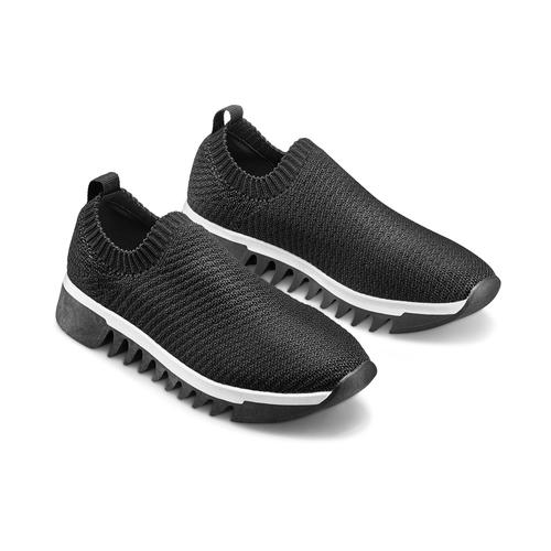 Sneakers senza lacci bata, nero, 539-6113 - 16