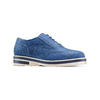 Stringate in suede bata, blu, 523-9266 - 13