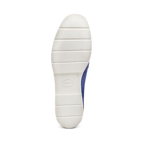 Mocassini da donna in pelle scamosciata bata-touch-me, blu, 513-9181 - 19
