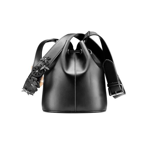 Borsa a secchiello da donna bata, nero, 961-6230 - 26
