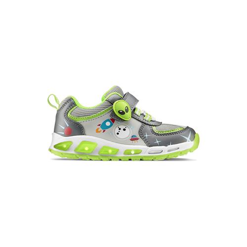 Sneakers da bambino con luci mini-b, grigio, 211-2102 - 26