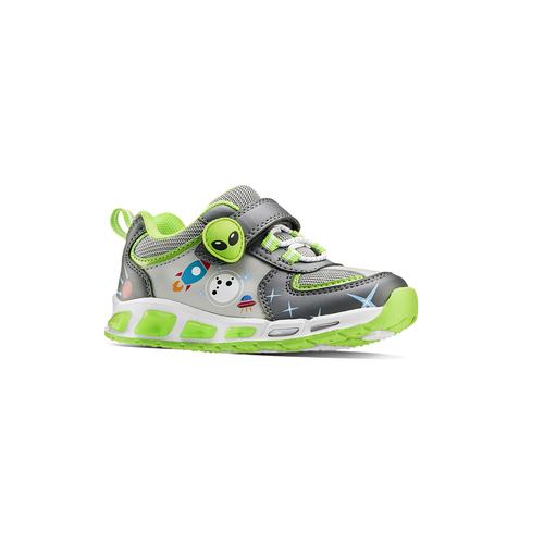 Sneakers da bambino con luci mini-b, grigio, 211-2102 - 13