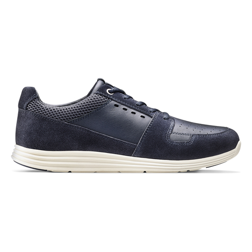 Sneakers in pelle bata-light, blu, 844-9161 - 26