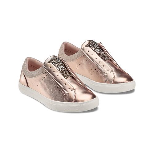 Sneakers senza lacci mini-b, rosa, 321-5357 - 16