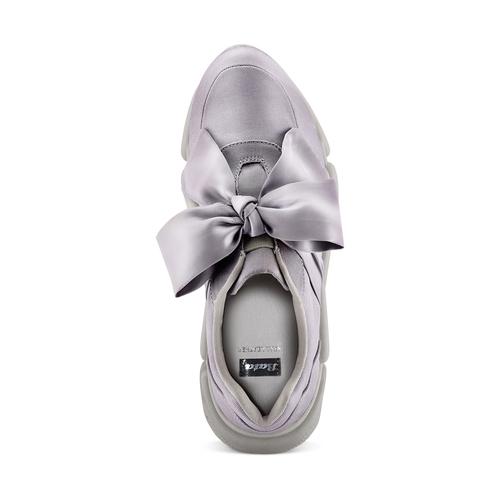 Sneakers con lacci in satin bata, grigio, 549-1202 - 17