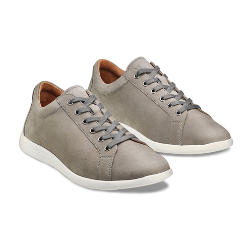 Sneakers in nabuk da uomo bata, beige, 846-2183 - 16