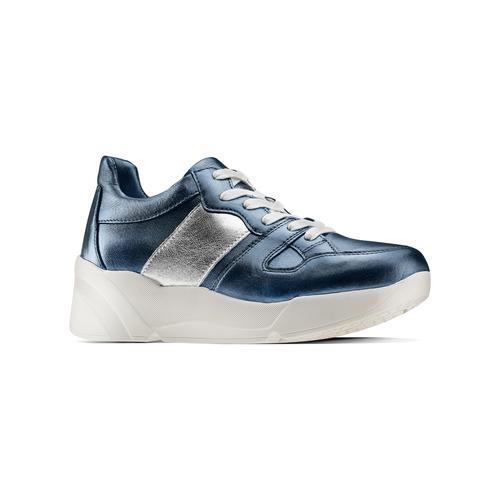 Sneakers in pelle Platform bata, blu, 624-9158 - 13
