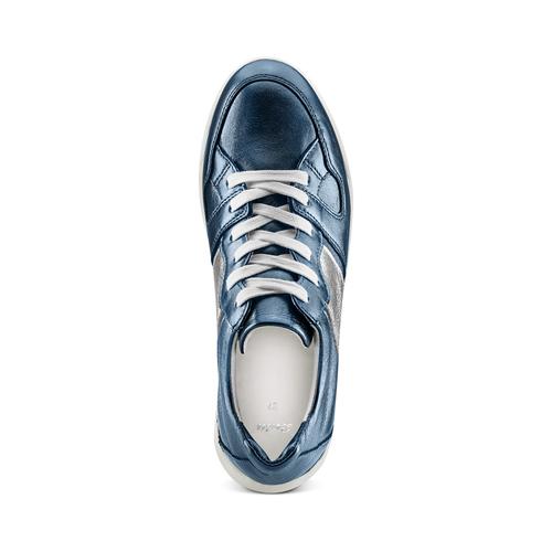 Sneakers in pelle Platform bata, blu, 624-9158 - 17