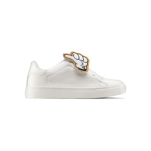 Sneakers con dettagli fumetto mini-b, bianco, 211-1193 - 26