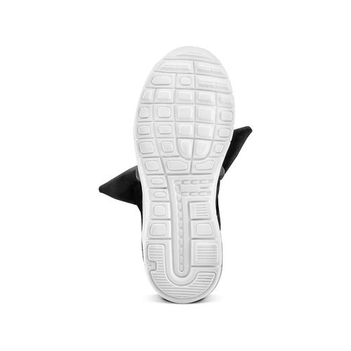 Sneakers da bambina con fiocco mini-b, nero, 329-6341 - 19