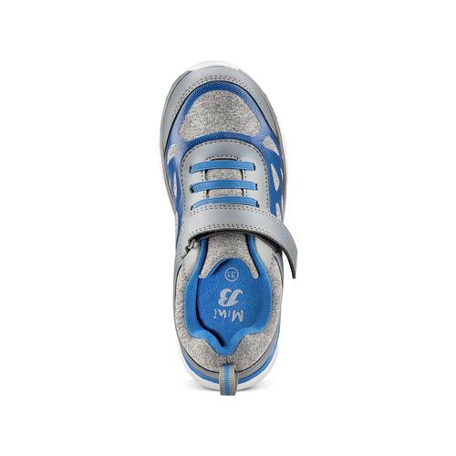 Sneakers da bambino con elastici mini-b, grigio, 319-2148 - 17