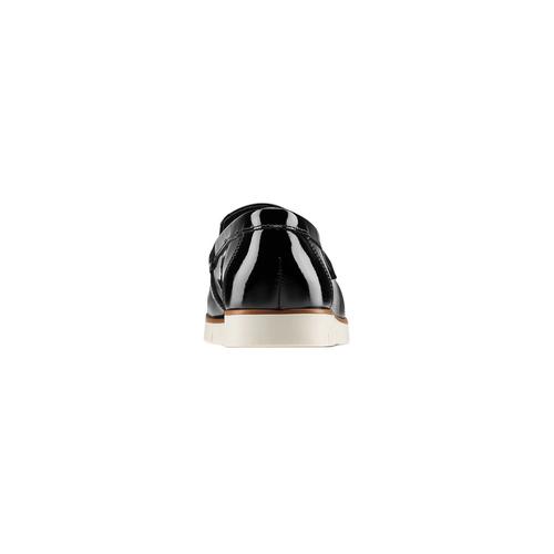 Mocassini in vernice da donna flexible, nero, 518-6154 - 15