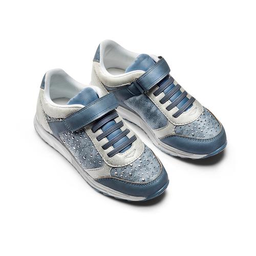 Sneakers da bimba con strass mini-b, blu, 329-9348 - 16