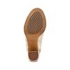 Tronchetto open toe bata, oro, 721-8254 - 19