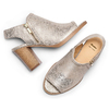 Tronchetto open toe bata, oro, 721-8254 - 26
