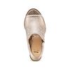 Tronchetto open toe bata, oro, 721-8254 - 17