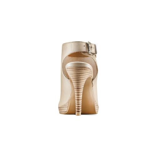 Sandali con tacco alto bata, beige, 724-2187 - 15