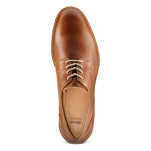 Derby in pelle da uomo bata, marrone, 824-3350 - 17