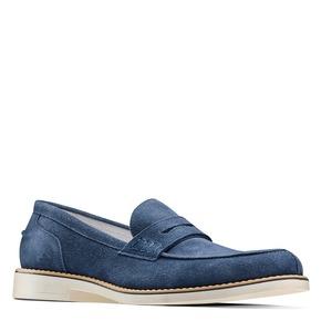 Mocassini in suede bata, blu, 813-9113 - 13
