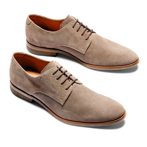 Derby da uomo in suede bata, marrone, 823-3297 - 26