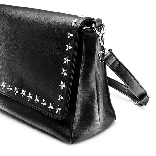 Tracolla da donna con stelle bata, nero, 961-6257 - 15