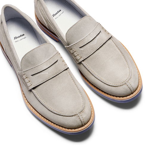 Mocassini in suede bata, 813-2182 - 26